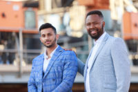Durand Naidoo and Thuso Mhlambi at the Linsen Nambi launch